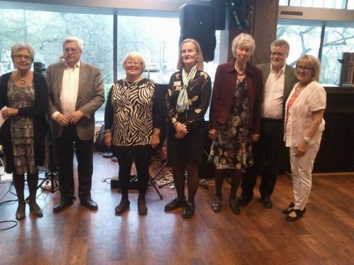 Hela styrelsen samlad; Ordf Rut Niska Säfström, Kjell Hietala, Karin Boström, Eva Wuolikainen, Irma Ohlén, Kjell Havring och Anna Jonsson Storm.