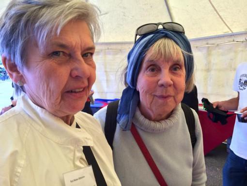 """Ordförande Rut Niska Säfström (Övertorneå) och Helmi-Maria Lind (Olkamangi), """"Man känner sig hemma med tornedalingar, vi har samma bakgrund och språk"""", säger Helmi-Maria som jobbat som speciallärare i 25 år i Stockholm."""